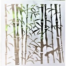 POCHOIR PLASTIQUE 13*13cm : bambou