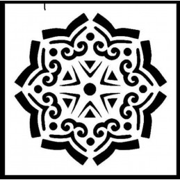 POCHOIR PLASTIQUE 13*13cm : motif fantaisie (39)