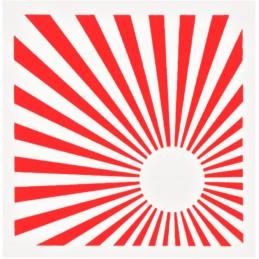 POCHOIR PLASTIQUE 15*15cm : rayons de lumière