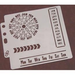 POCHOIR PLASTIQUE 13*13cm : calendrier