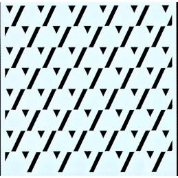 POCHOIR PLASTIQUE 13*13cm : motif fantaisie (12)