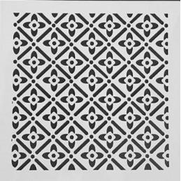 POCHOIR PLASTIQUE 13*13cm : motif fantaisie (41)