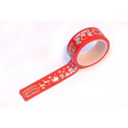 Ruban Washi 15 mm x 5 m motif Noel classique