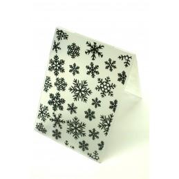 Classeur d'embossage en plastique motif flocons de neige  format  14.5*10.6*0.3 cm
