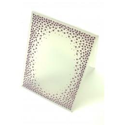 Classeur d'embossage en plastique motif quadrillage de petits coeurs  format  14.5*10.6*0.3 cm