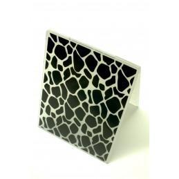 Classeur d'embossage en plastique motif Cadre dallage de pierre format  14.5*10.6*0.3 cm
