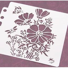POCHOIR PLASTIQUE 13*13cm : fleur (38)