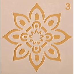 POCHOIR PLASTIQUE 13*13cm : fleur (37)