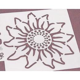 POCHOIR PLASTIQUE 13*13cm :fleur tournesol (02)