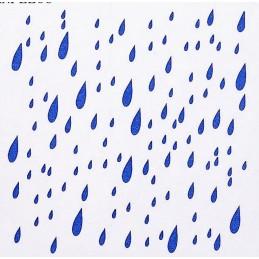 POCHOIR PLASTIQUE 13*13cm : gouttes d'eau (01)