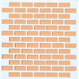 POCHOIR PLASTIQUE 13*13cm : mur motif brique (02)