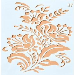 POCHOIR PLASTIQUE 13*13cm : fleur (32)
