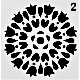 POCHOIR PLASTIQUE 13*13cm : motif fleur (06)