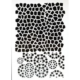 POCHOIR PLASTIQUE 30*21cm : mur motif pierre (02)