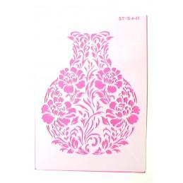POCHOIR PLASTIQUE 30*21cm : vase fleuri