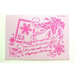 POCHOIR PLASTIQUE 30*21cm : carte de voeux