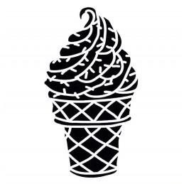POCHOIR PLASTIQUE 13*13cm : coupe de glace