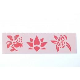 POCHOIR PLASTIQUE 18*6cm : fleur (01)