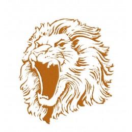 POCHOIR PLASTIQUE 26*18cm : lion