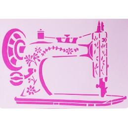 POCHOIR PLASTIQUE 27*18cm : machine à coudre