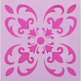 POCHOIR PLASTIQUE 15*15cm : fleur (08)
