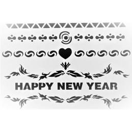 POCHOIR PLASTIQUE 25*17cm : Happy New Year