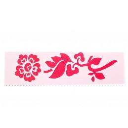 POCHOIR PLASTIQUE 18*6cm : fleur (03)