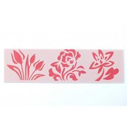POCHOIR PLASTIQUE 18*6cm : fleur (02)