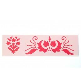 POCHOIR PLASTIQUE 18*6cm : fleur (04)