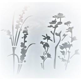 POCHOIR PLASTIQUE 13*13cm : Fleurs (21)