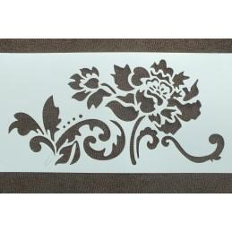 POCHOIR PLASTIQUE 24*12cm : bordure camélia (02)