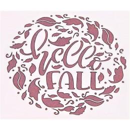 POCHOIR PLASTIQUE 13*13cm : Hello Fall