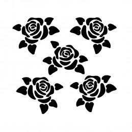 POCHOIR PLASTIQUE 13*13cm : roses (05)