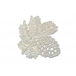 Scrapbooking dies DIY matrice de découpe Aiguilles et Pomme de pin 75 x 75 mm