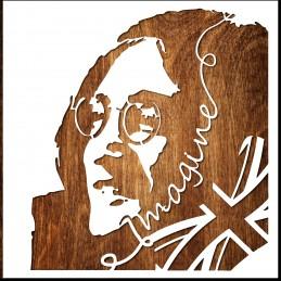 POCHOIR  John Lennon Imagine Format (20*20 cm)