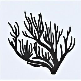 POCHOIR PLASTIQUE 13*13cm : arbre branche corail (03)