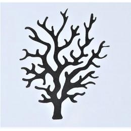 POCHOIR PLASTIQUE 13*13cm : arbre branche corail (04)