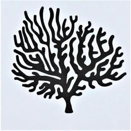 POCHOIR PLASTIQUE 13*13cm : arbre branche corail (05)