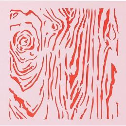 POCHOIR PLASTIQUE  13*13cm : mur fantaisie (02)