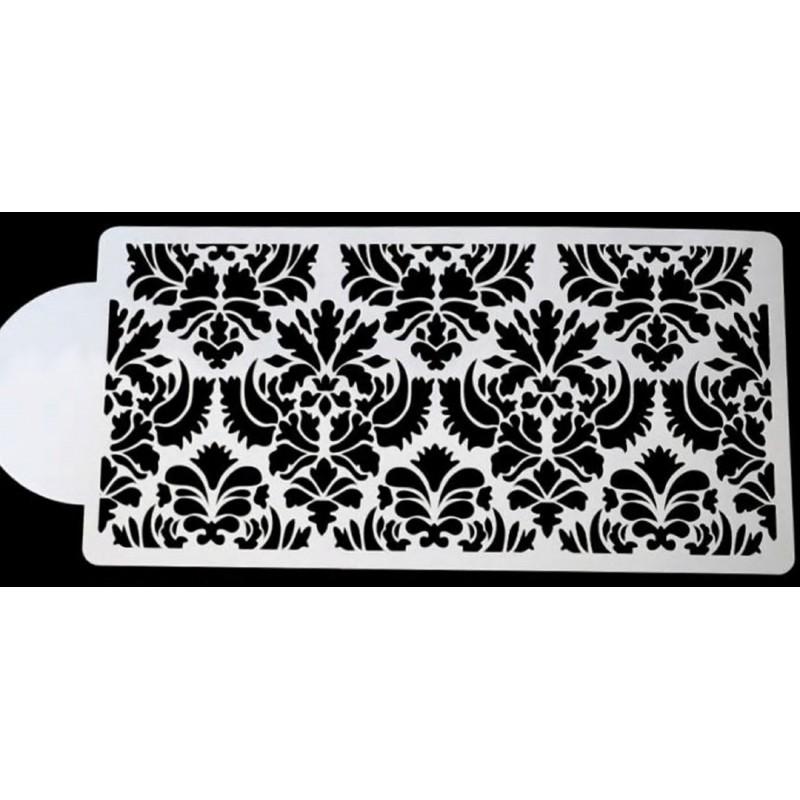POCHOIR PLASTIQUE 22*11cm : bordure motif dentelle