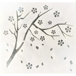 POCHOIR PLASTIQUE 13*13cm : branche (01)