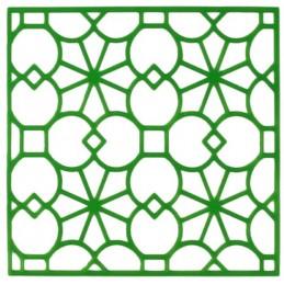 POCHOIR PLASTIQUE 20*20cm : motif fantaisie (54)