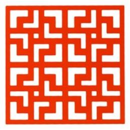 POCHOIR PLASTIQUE 20*20cm : motif fantaisie (56)