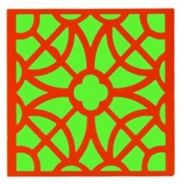 POCHOIR PLASTIQUE 20*20cm : motif fantaisie (59)