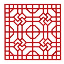 POCHOIR PLASTIQUE 20*20cm : motif fantaisie (60)