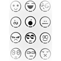 POCHOIR PLASTIQUE 26*17cm : Smiley (05)