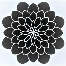 POCHOIR PLASTIQUE 13*13cm : fleur (25)