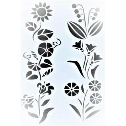 POCHOIR PLASTIQUE 25*17cm : fleur (27)