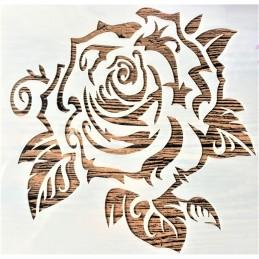 POCHOIR PLASTIQUE 13*13cm : rose (08)