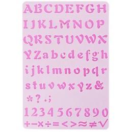 POCHOIR PLASTIQUE 26*18cm : alphabet (05)